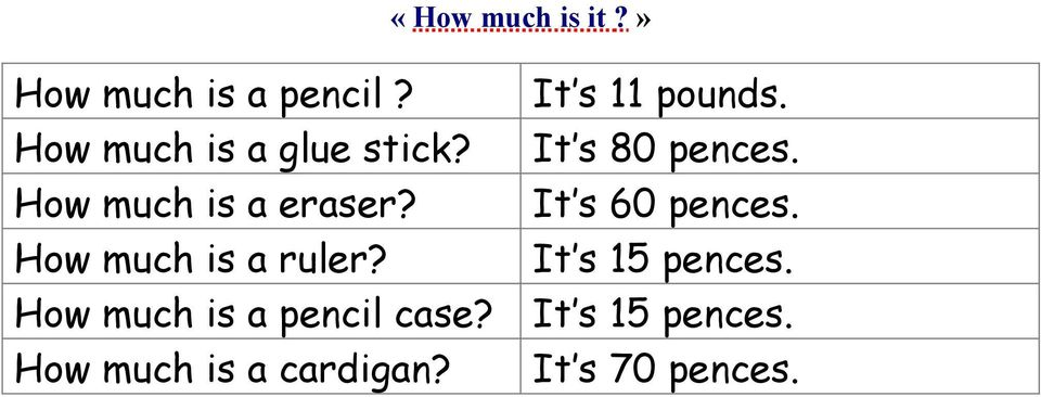 How much is a ruler? How much is a pencil case?