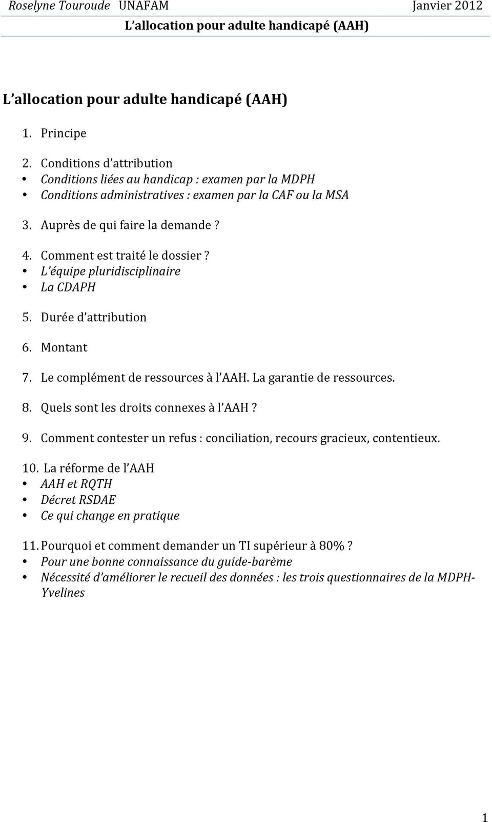 L Allocation Pour Adulte Handicapé Aah Pdf Free Download