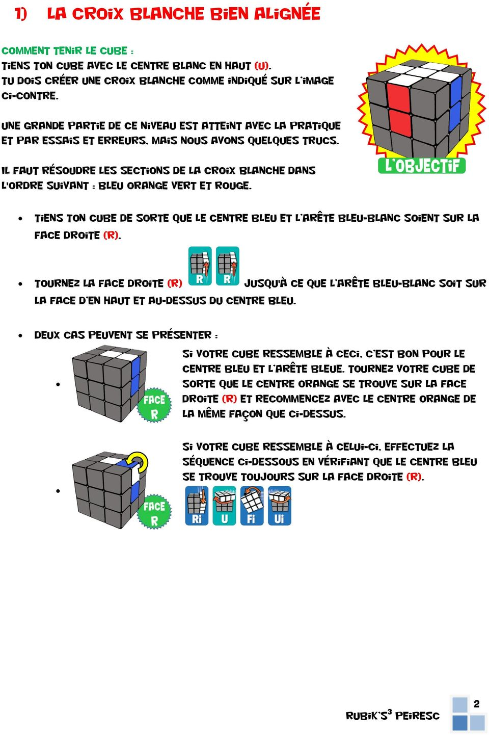 rubik s cube 3x3x3. left. right. down. front. back. intro : les
