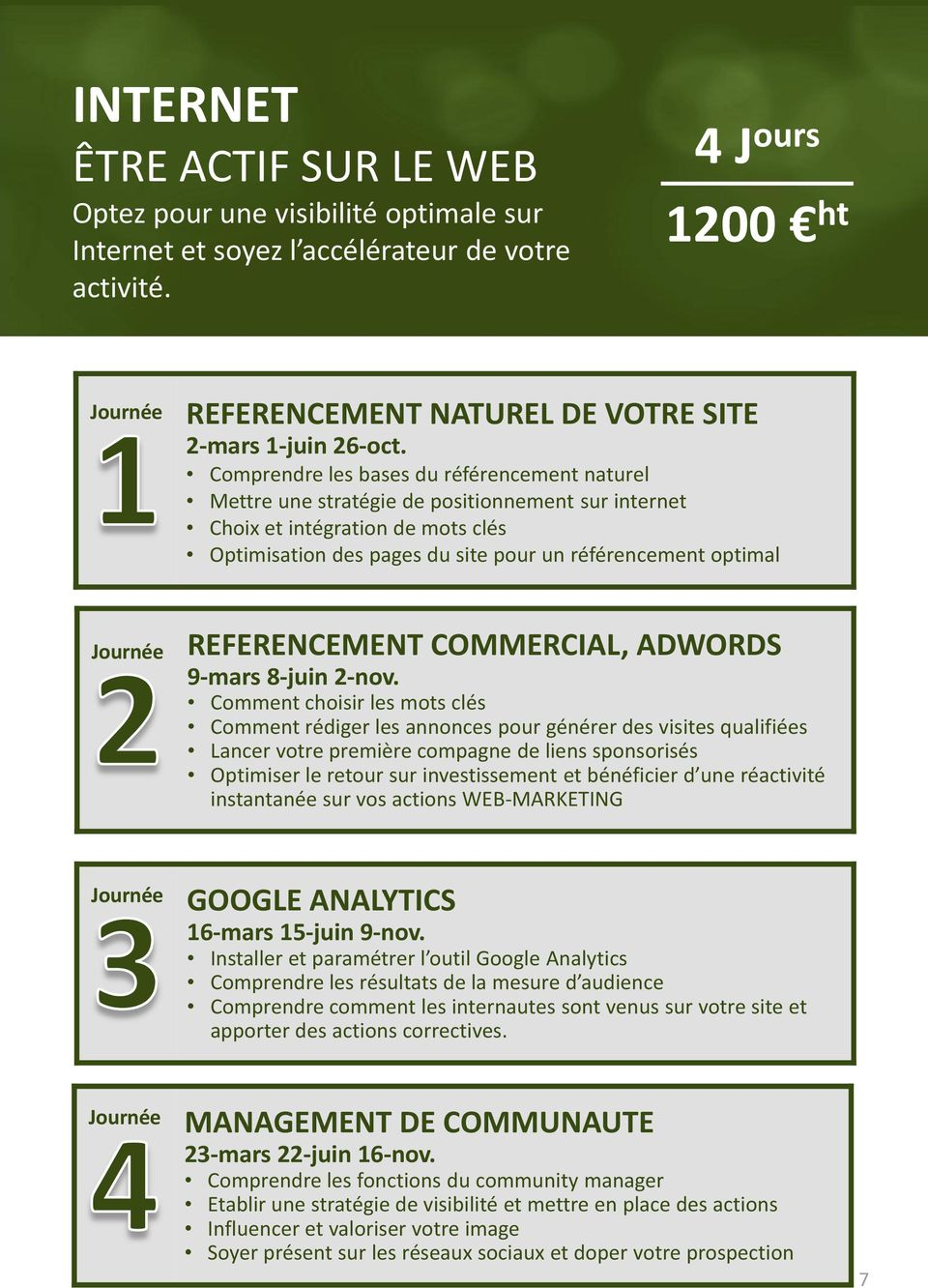 REFERENCEMENT COMMERCIAL, ADWORDS 9-mars 8-juin 2-nov.