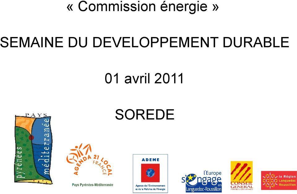 DU DEVELOPPEMENT