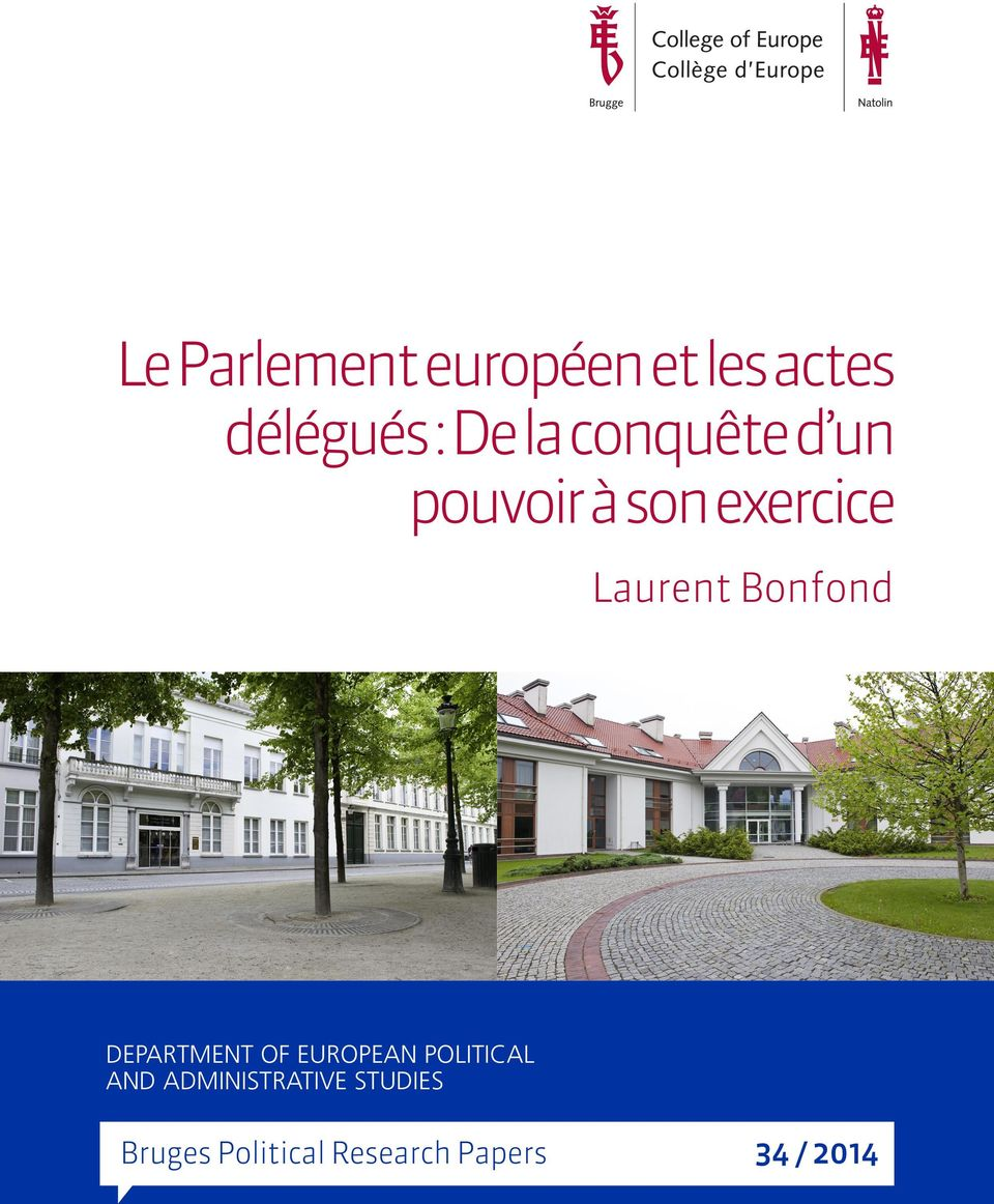 Bonfond DEPARTMENT OF EUROPEAN POLITICAL AND