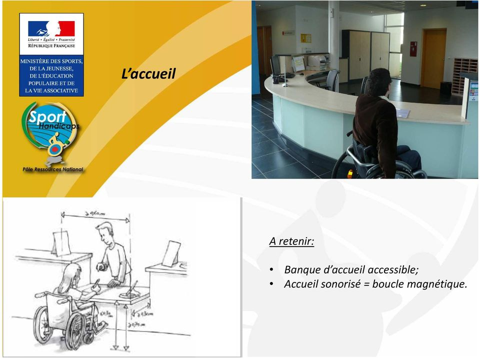 accessible; Accueil