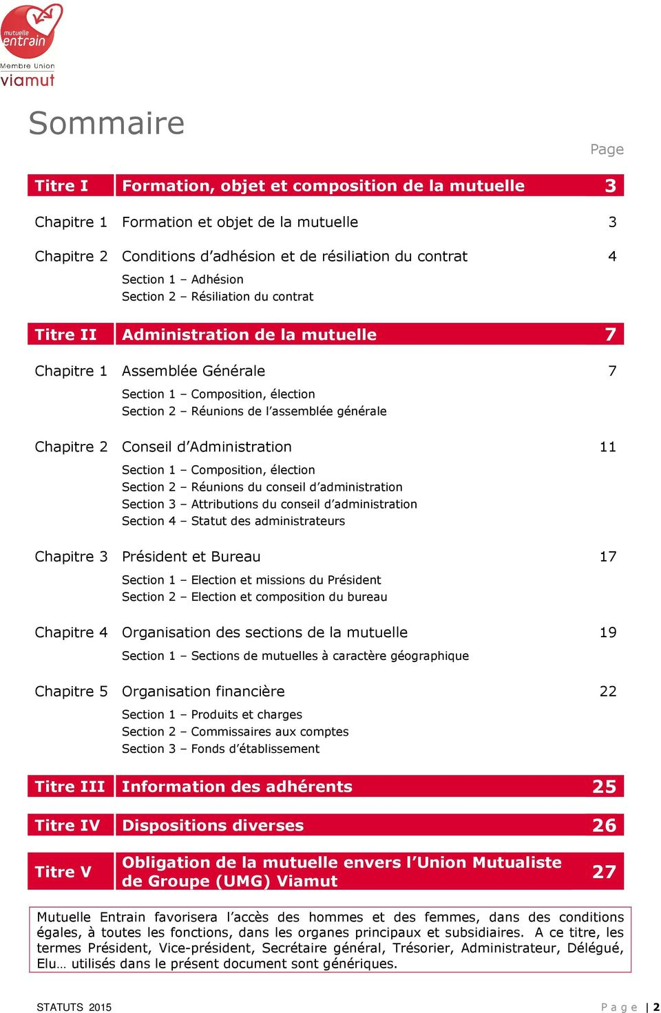 2 Conseil d Administration 11 Section 1 Composition, élection Section 2 Réunions du conseil d administration Section 3 Attributions du conseil d administration Section 4 Statut des administrateurs
