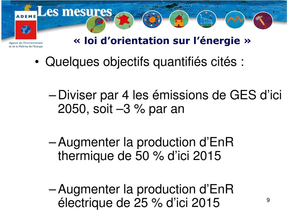 soit 3 % par an Augmenter la production d EnR thermique de 50 % d