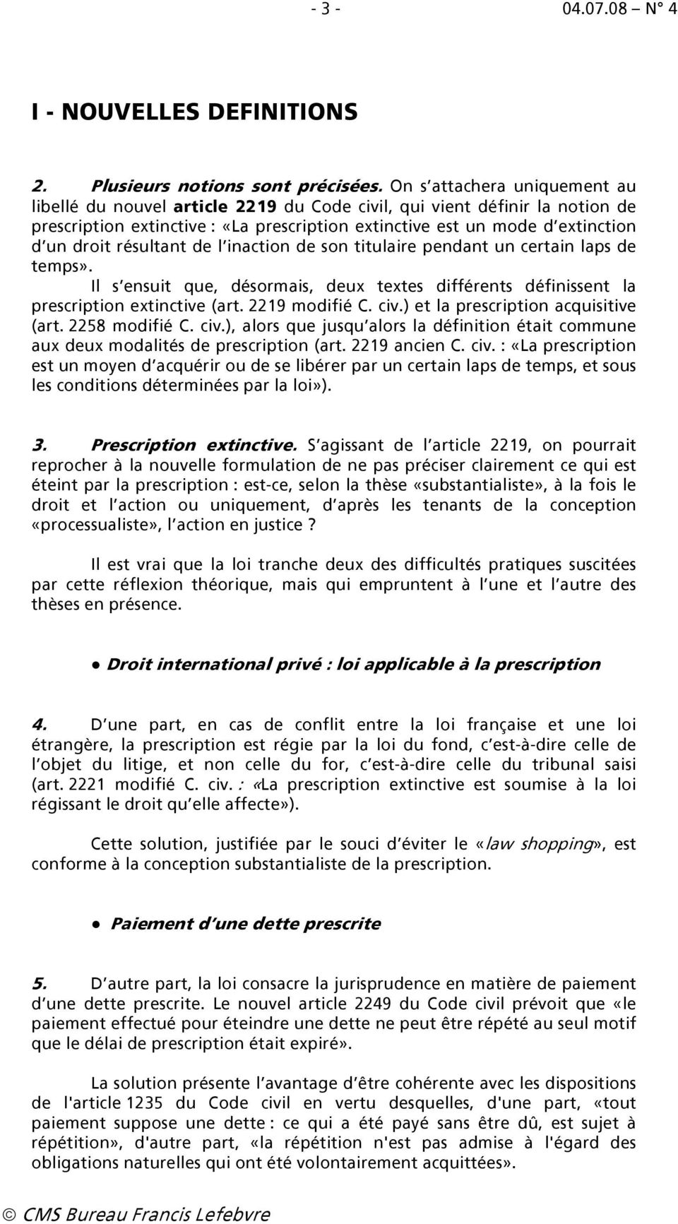 Reforme De La Prescription Civile Pdf