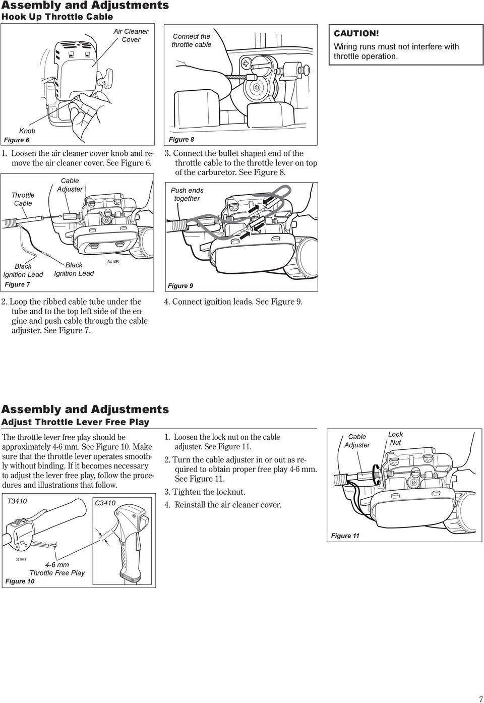 Shindaiwa Owner S Operator Manual T3410 Grass Trimmer C3410 Voyager Pontoon Boat Wiring Diagram Connect The Bullet Shaped End Of Throttle Cable To Lever On Top