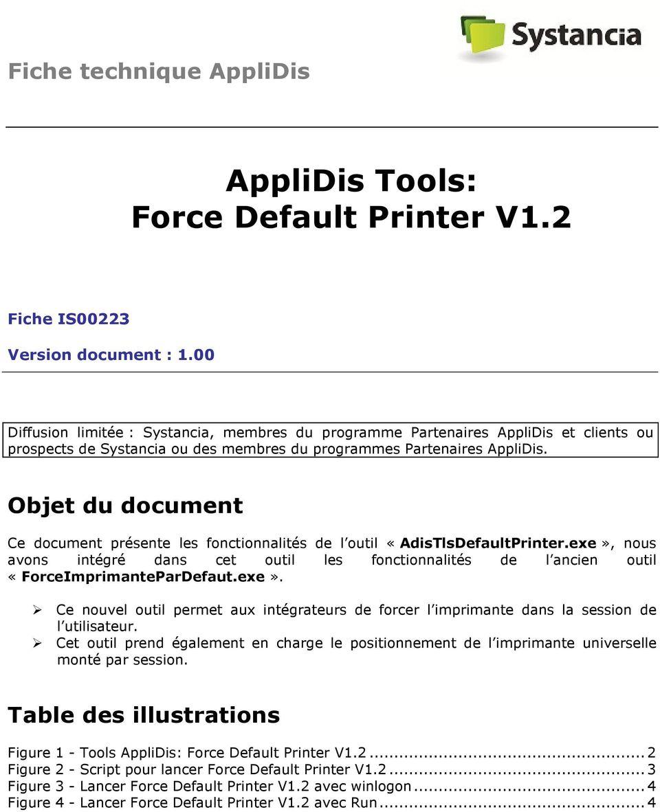 AppliDis Tools: Force Default Printer V1 2 - PDF