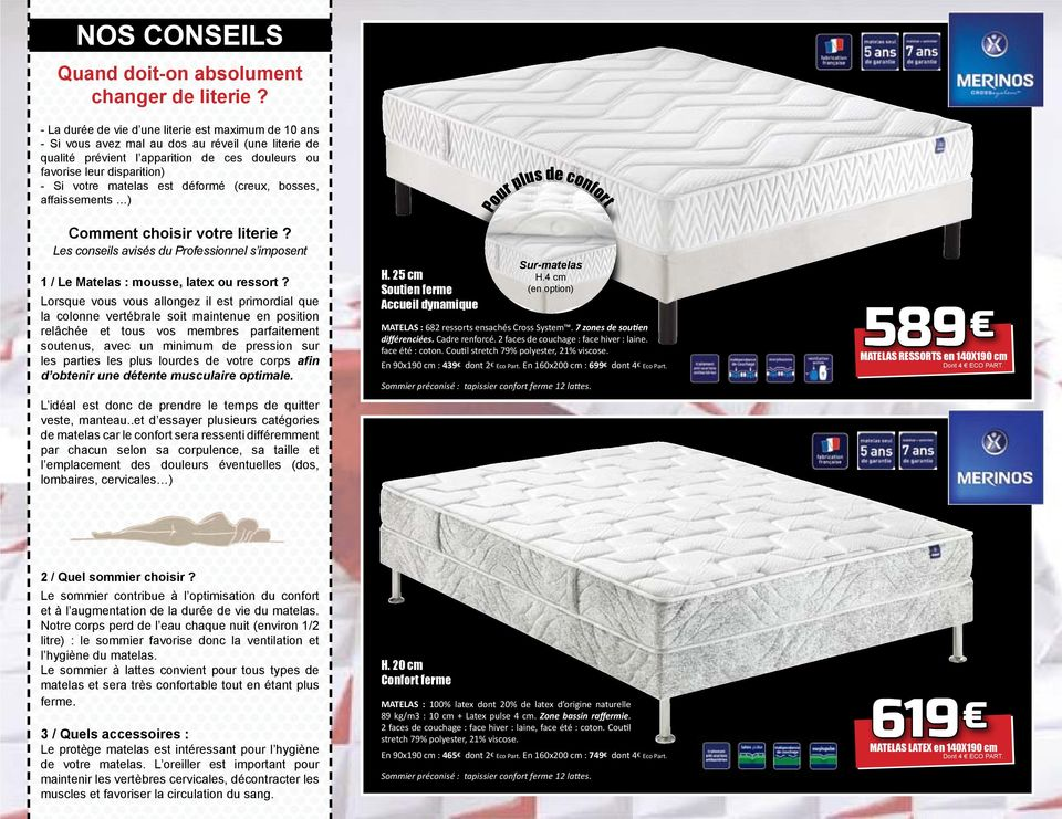 Matelas Sommiers Relaxations Pdf