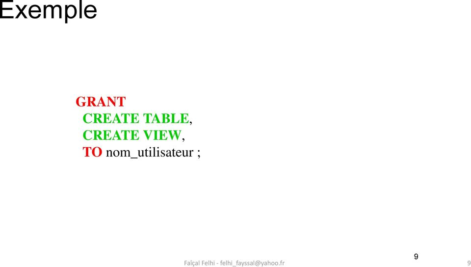 CREATE VIEW, TO
