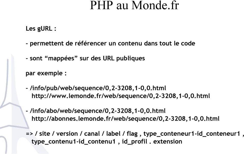 exemple : - /info/pub/web/sequence/0,2-3208,1-0,0.html http://www.lemonde.fr/web/sequence/0,2-3208,1-0,0.