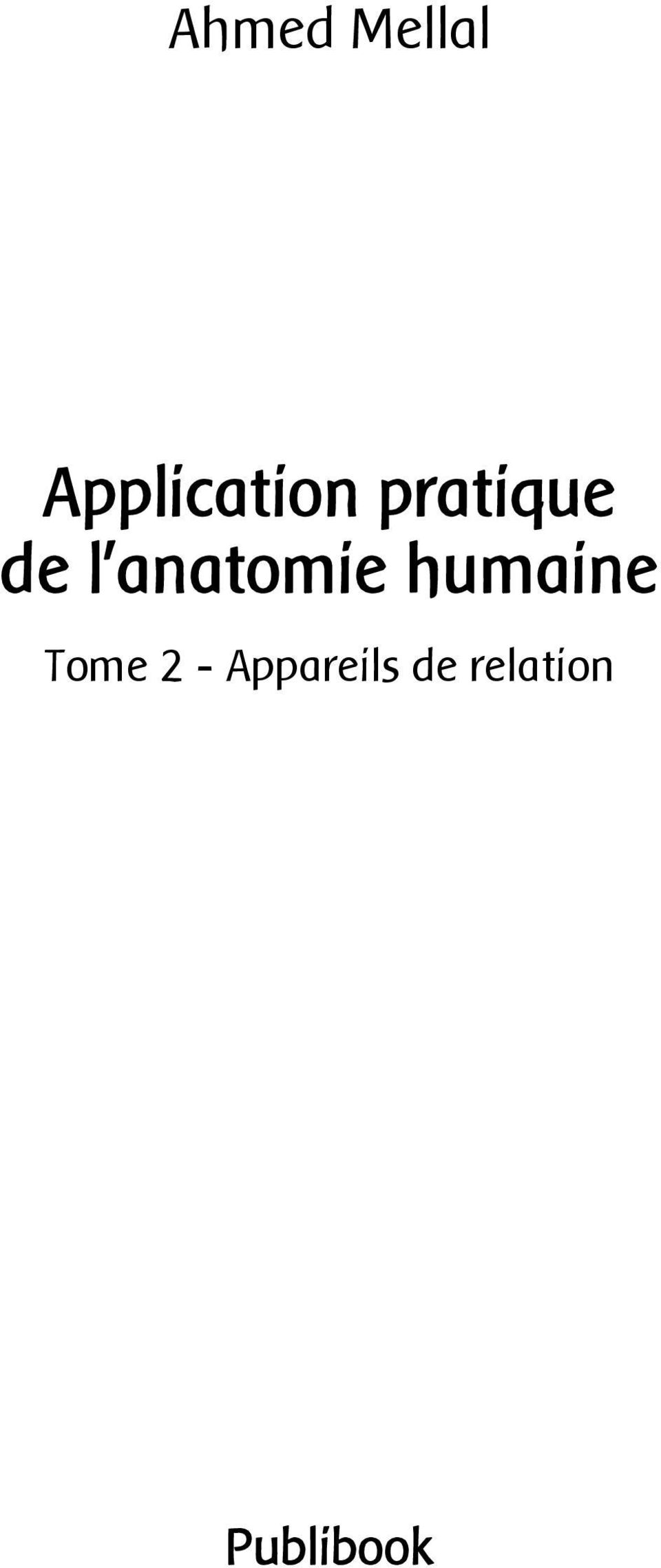 l anatomie humaine Tome