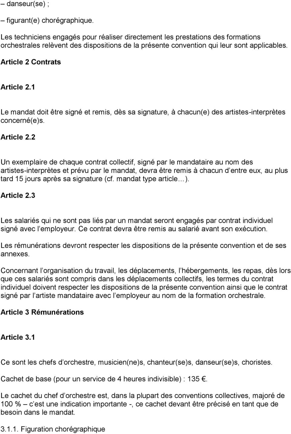Article 2 Contrats Article 2.