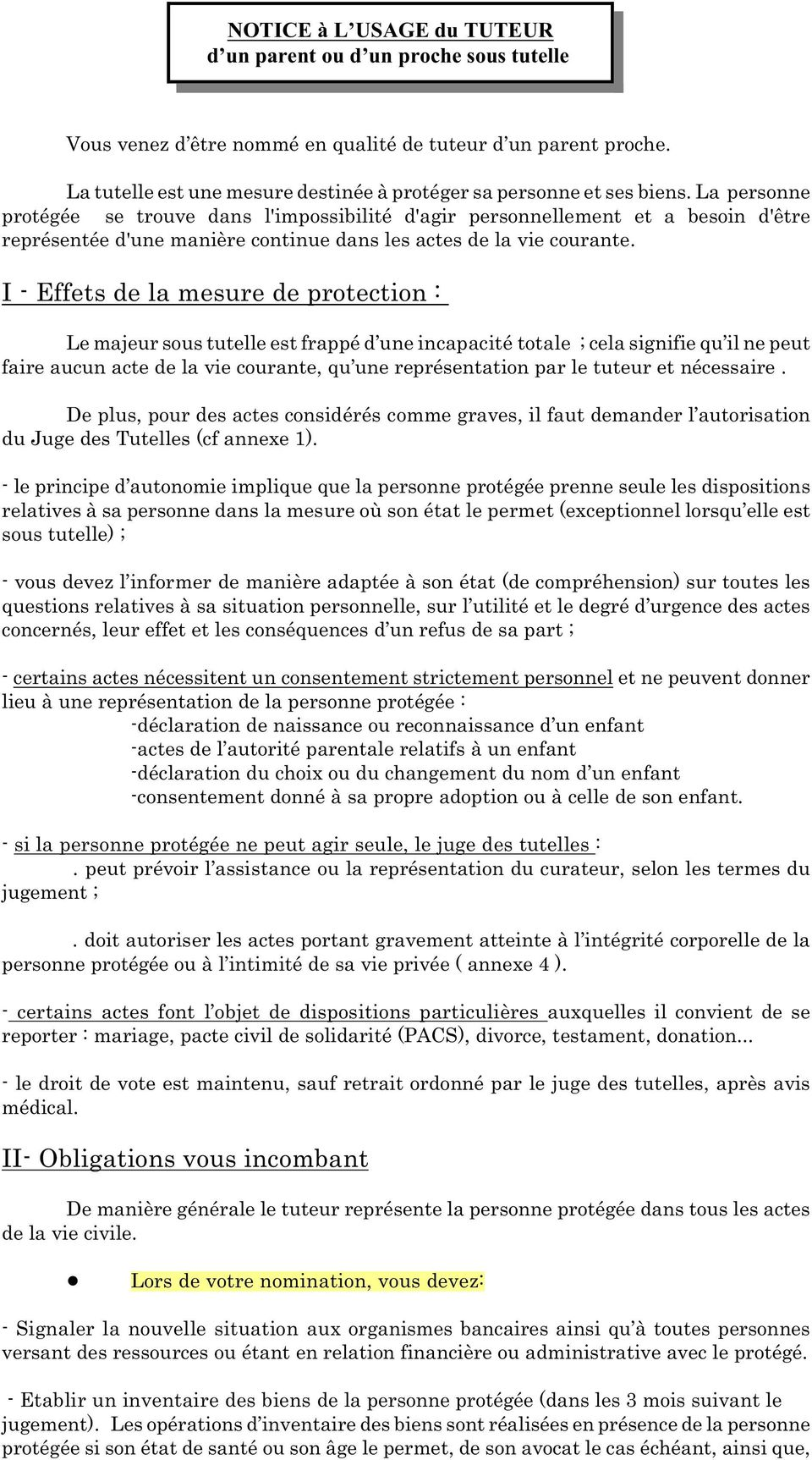 I Effets De La Mesure De Protection Pdf
