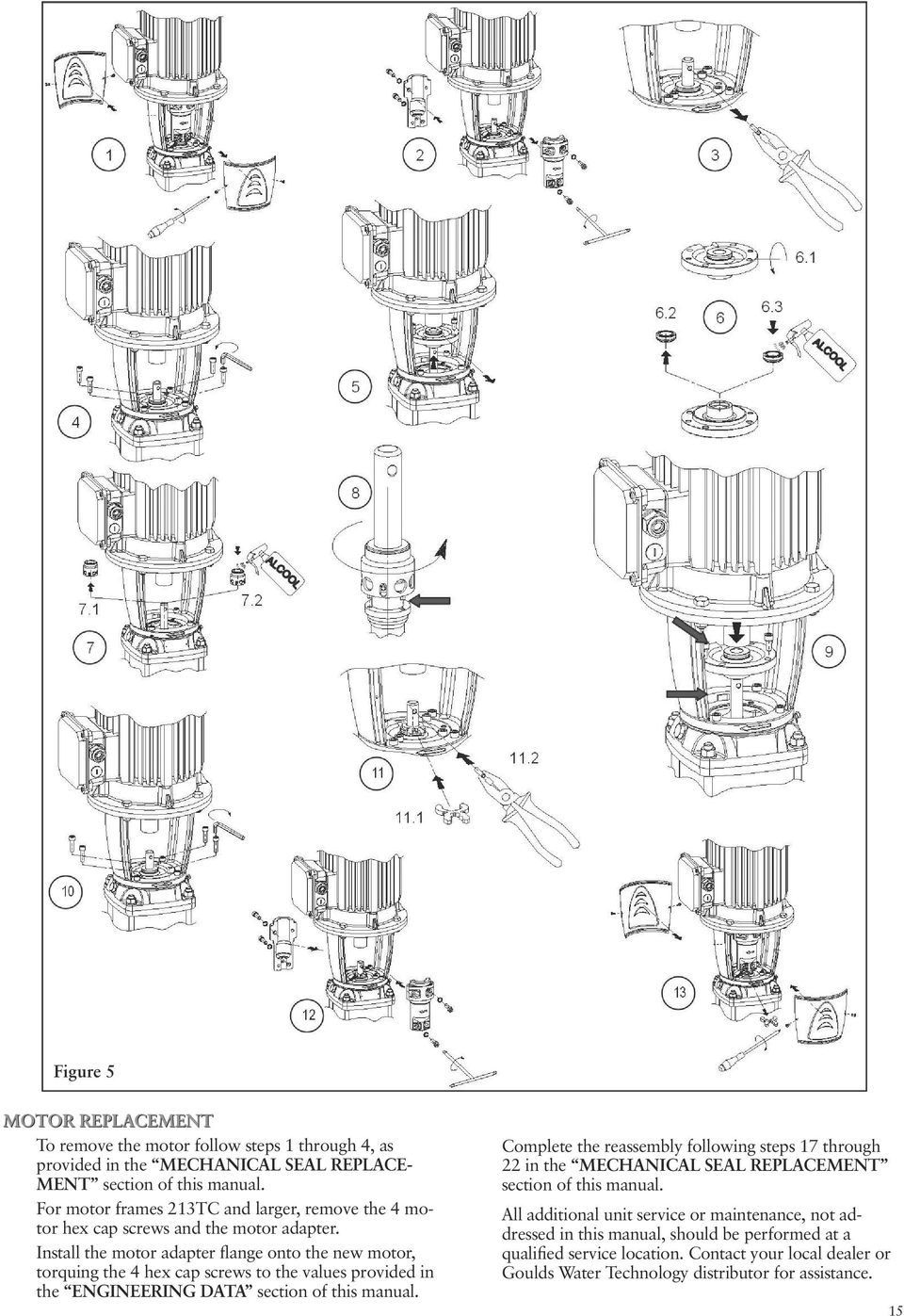 Instruction Manual Im228r03 Model E Sv Installation Operation And Parts Diagram For Gourmet Single Handle Kitchen Faucet 150 450 Install The Motor Adapter Flange Onto New Torquing 4 Hex Cap Screws