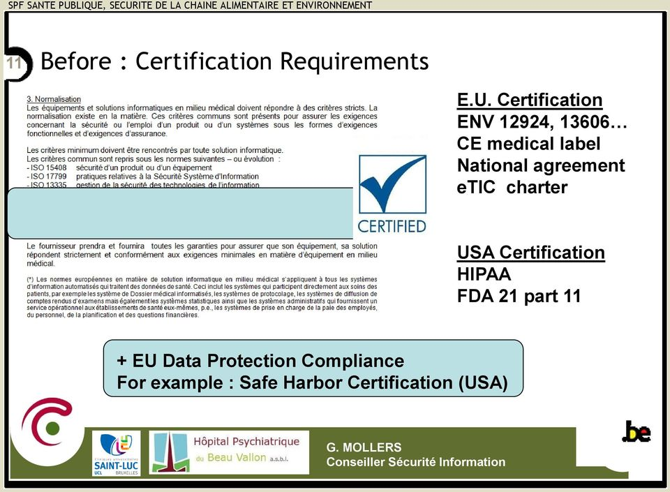 agreement etic charter USA Certification HIPAA FDA 21 part