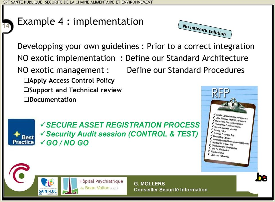 management : Define our Standard Procedures Apply Access Control Policy Support and