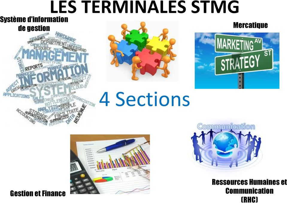 Sections Gestion et Finance