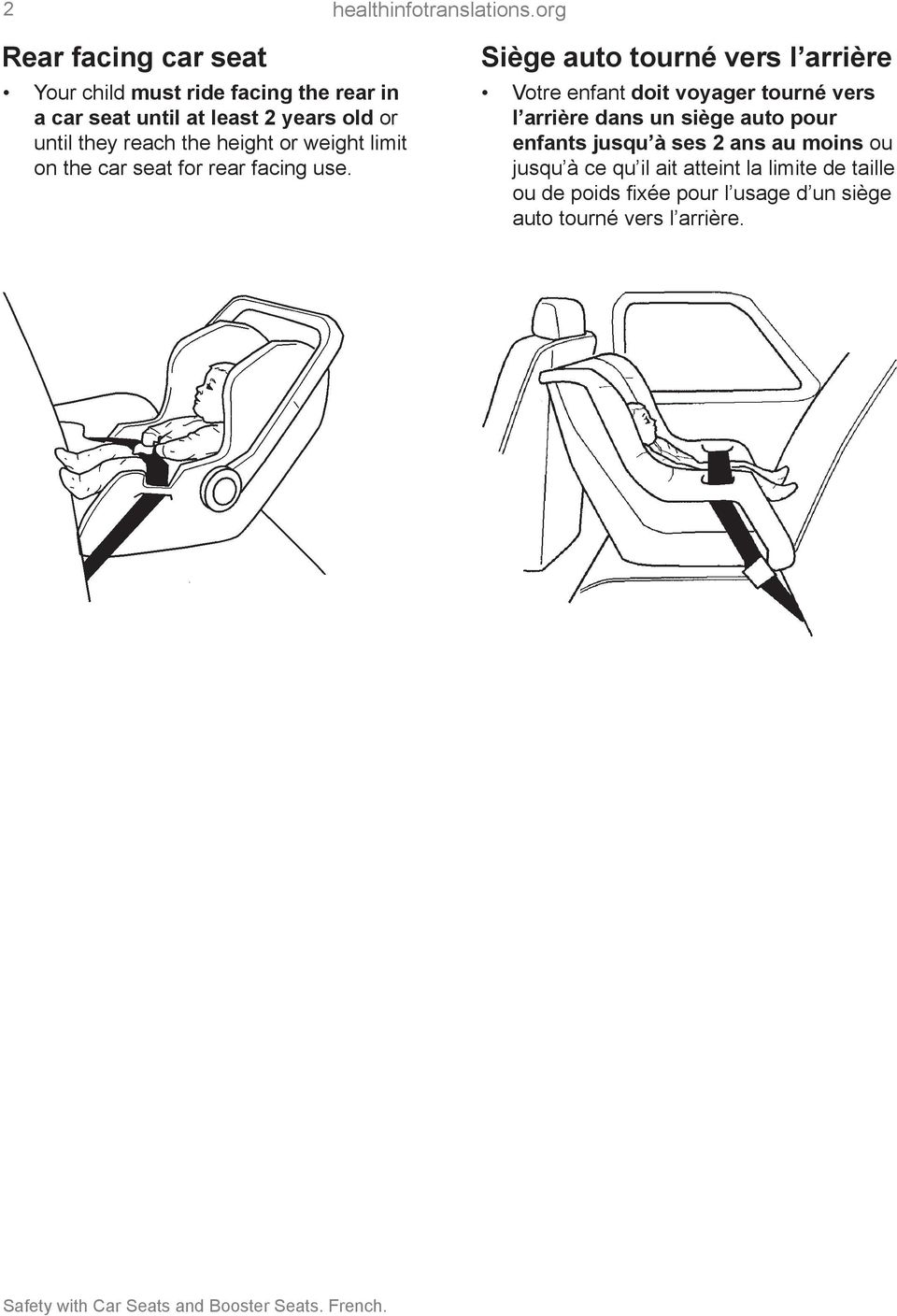 reach the height or weight limit on the car seat for rear facing use.
