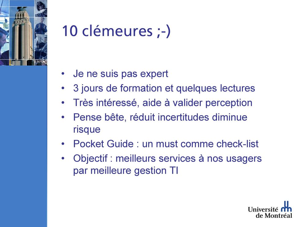 incertitudes diminue risque Pocket Guide : un must comme