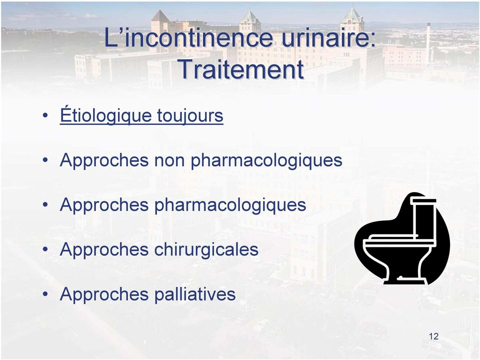 Approches pharmacologiques