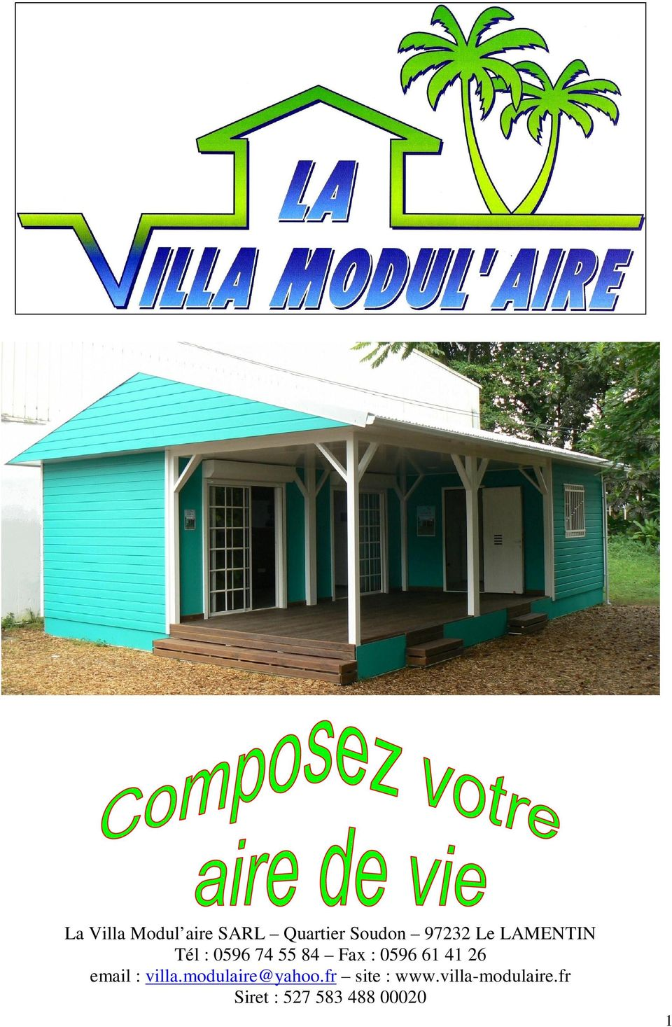 41 26 email : villa.modulaire@yahoo.