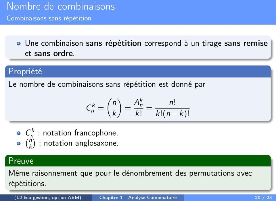 Chapitre 1 Analyse Combinatoire Pdf Free Download