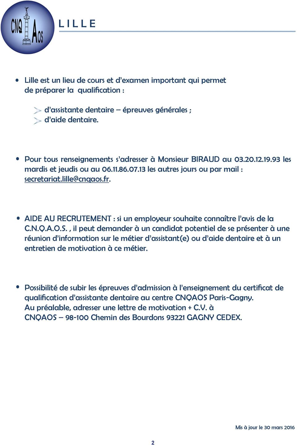 Lille Assistante Dentaire Aide Dentaire Formation