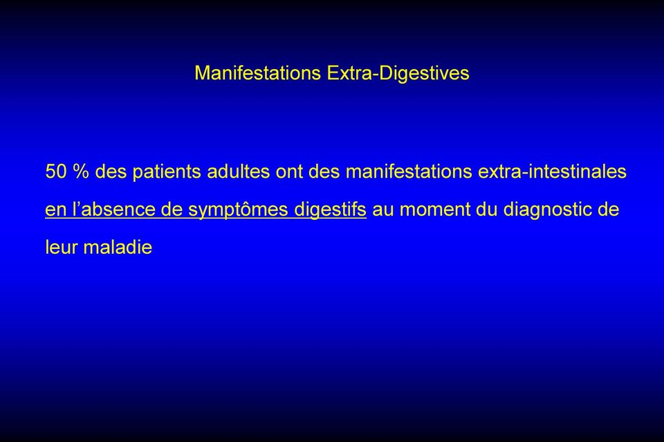 extra-intestinales en l absence de