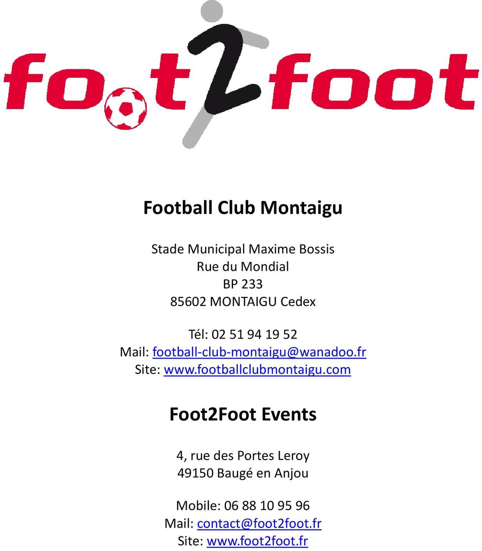 fr Site: www.footballclubmontaigu.