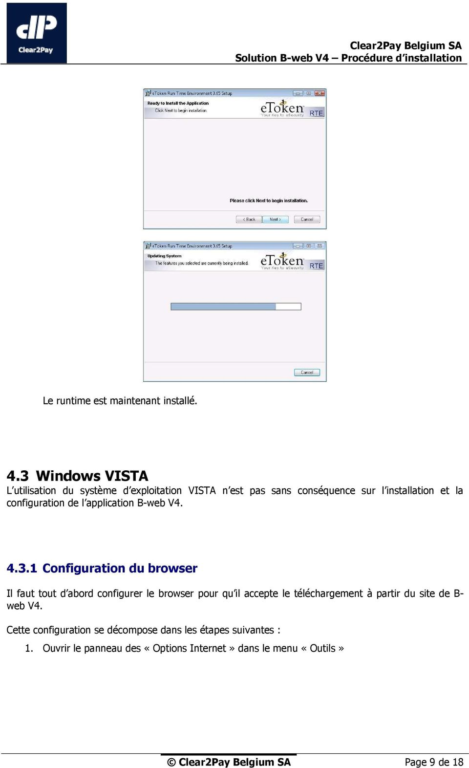 configuration de l application B-web V4. 4.3.