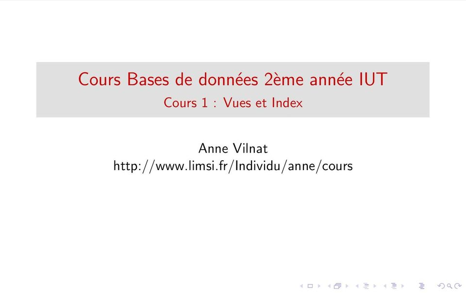 Index Anne Vilnat http://www.