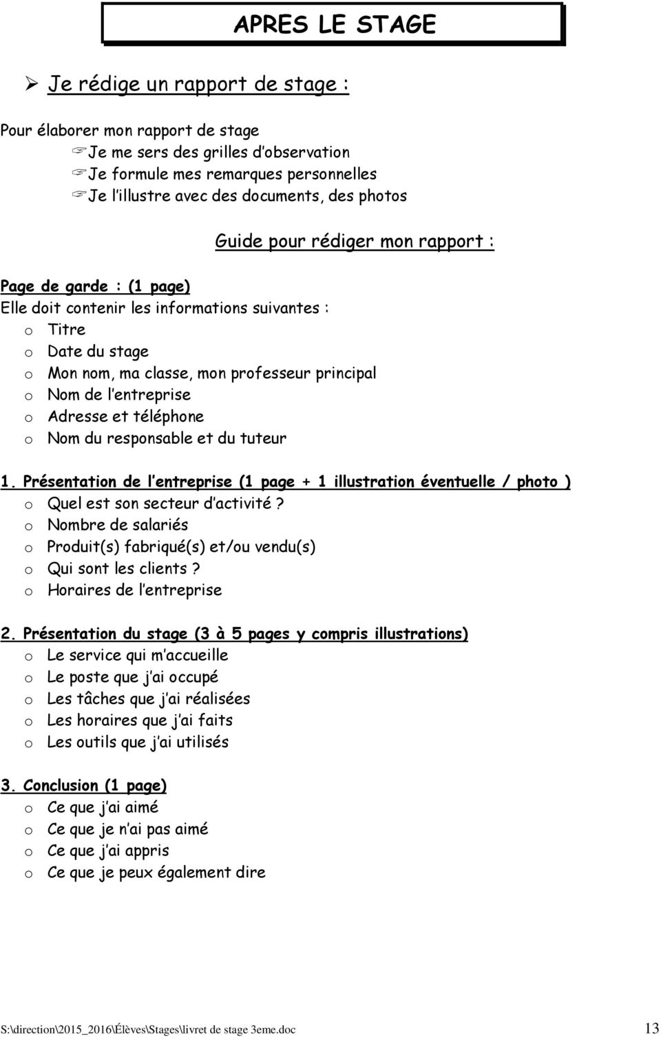 Livret Stage D Observation En Entreprise Pdf Free Download
