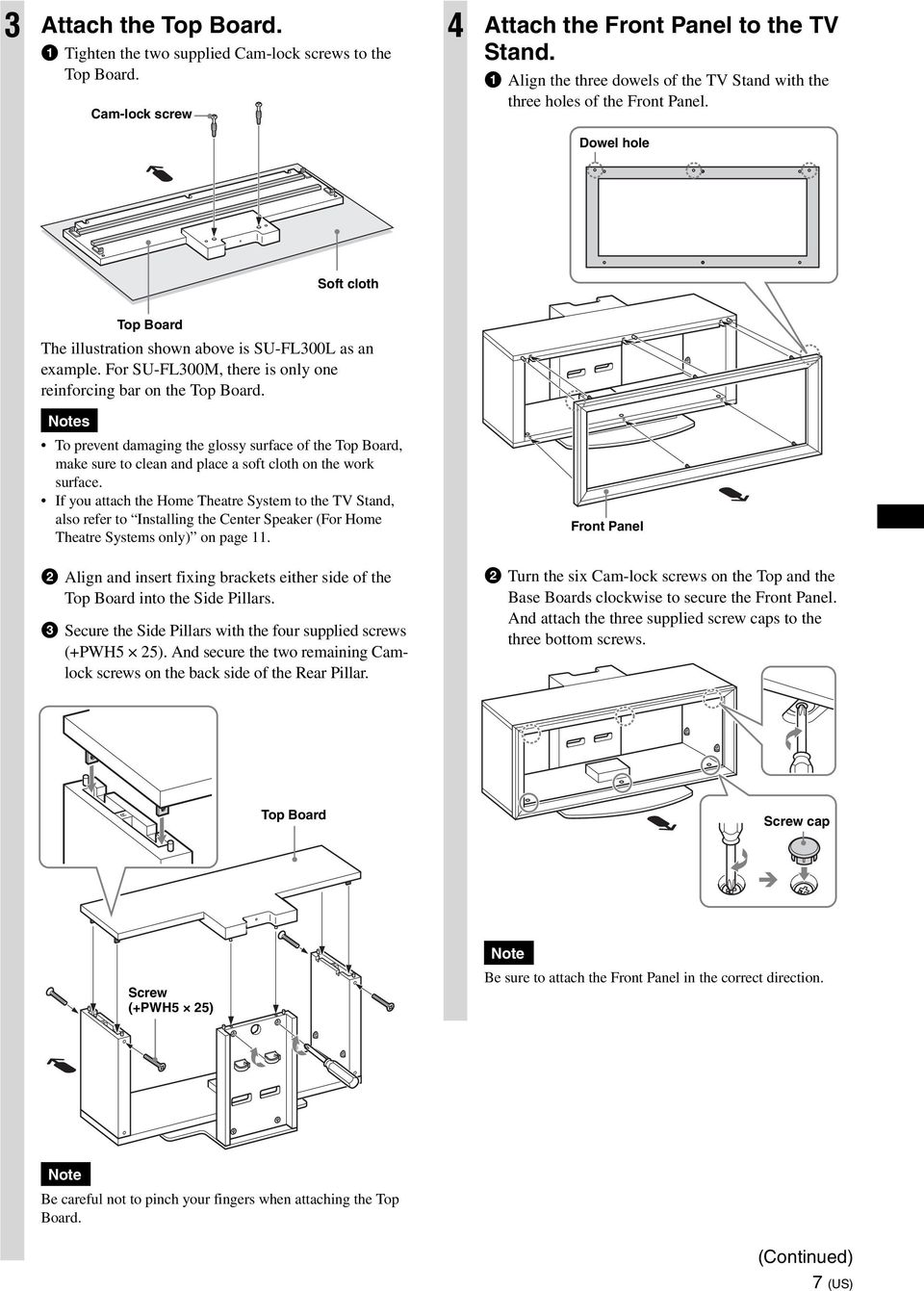 40 To Customers and Sony Dealers. TV Stand. Instructions. Mode d ...