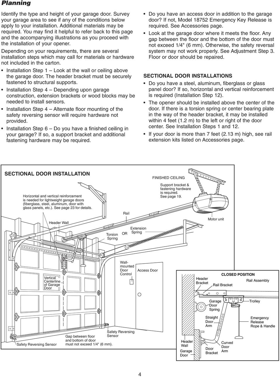 garage door opener owner s manual english for residential use only