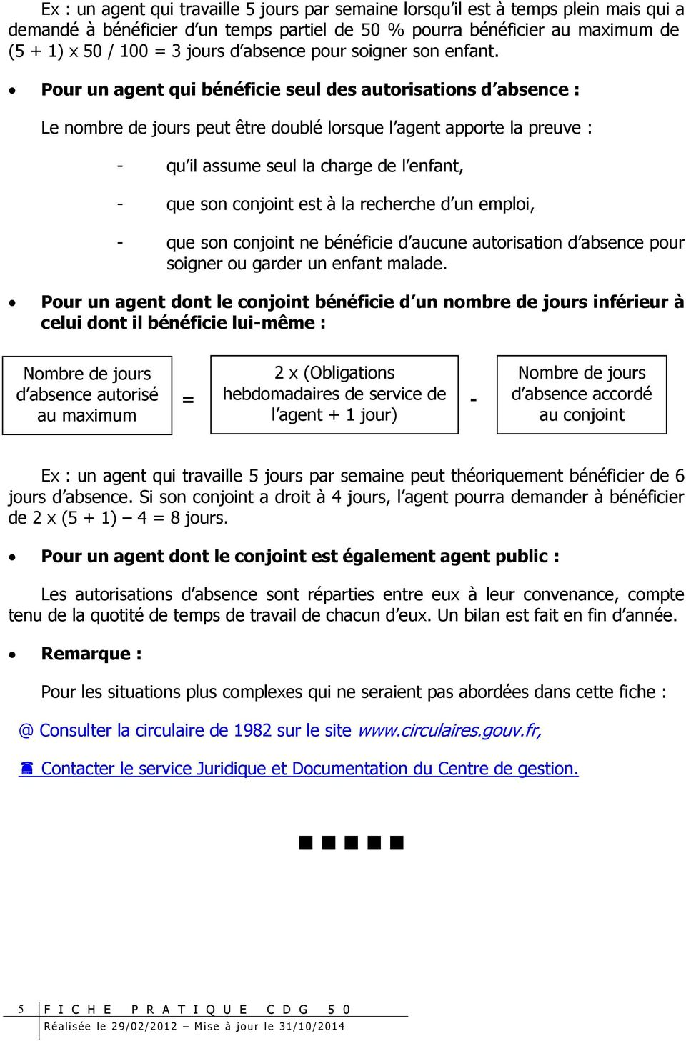 Autorisations Speciales D Absence Pour Evenements Familiaux Pdf