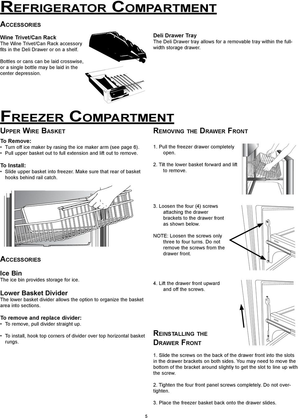 Use and Care Manual 36 Inch Refrigerator 2 and 3 Door Models