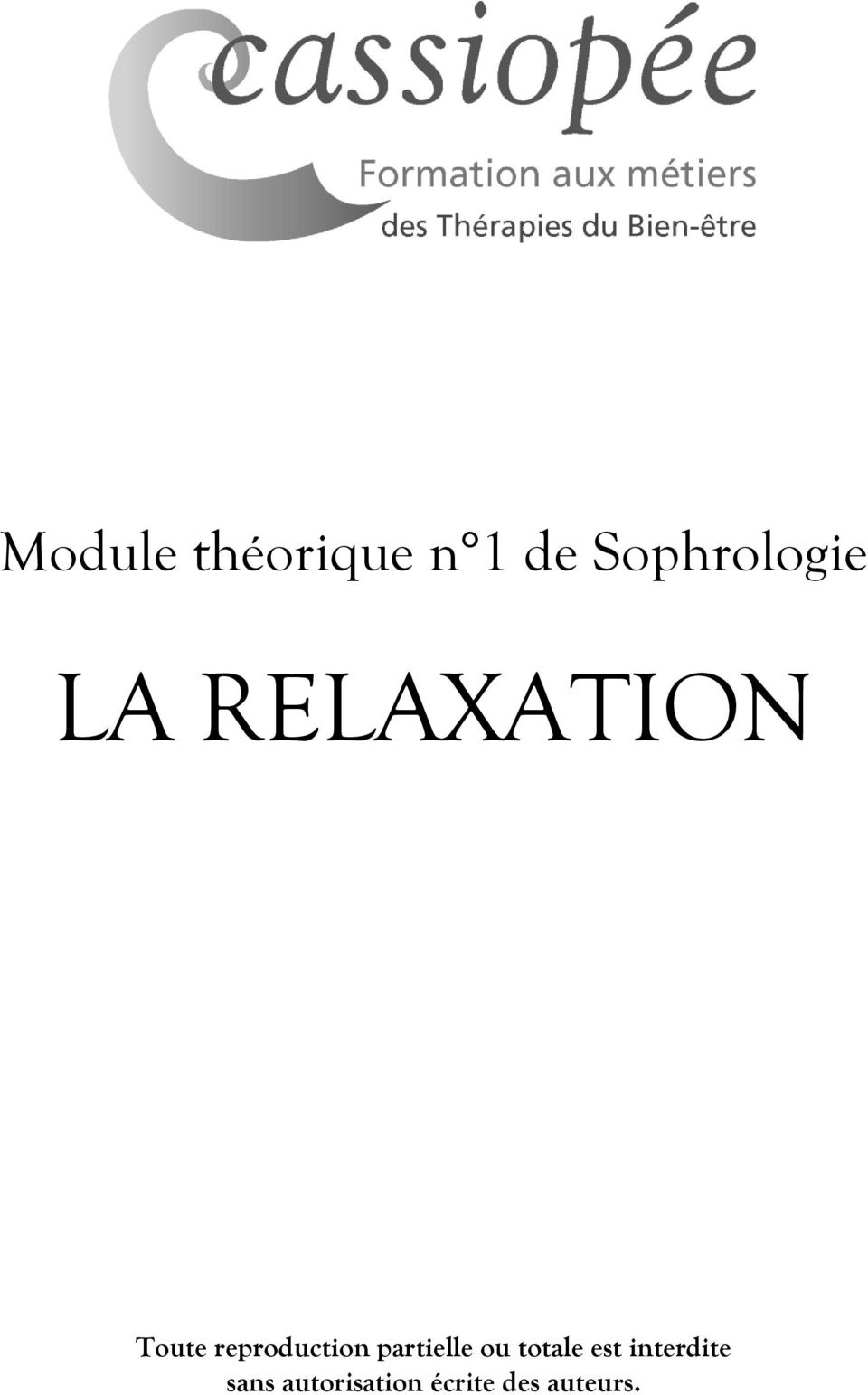 relaxation ecrite