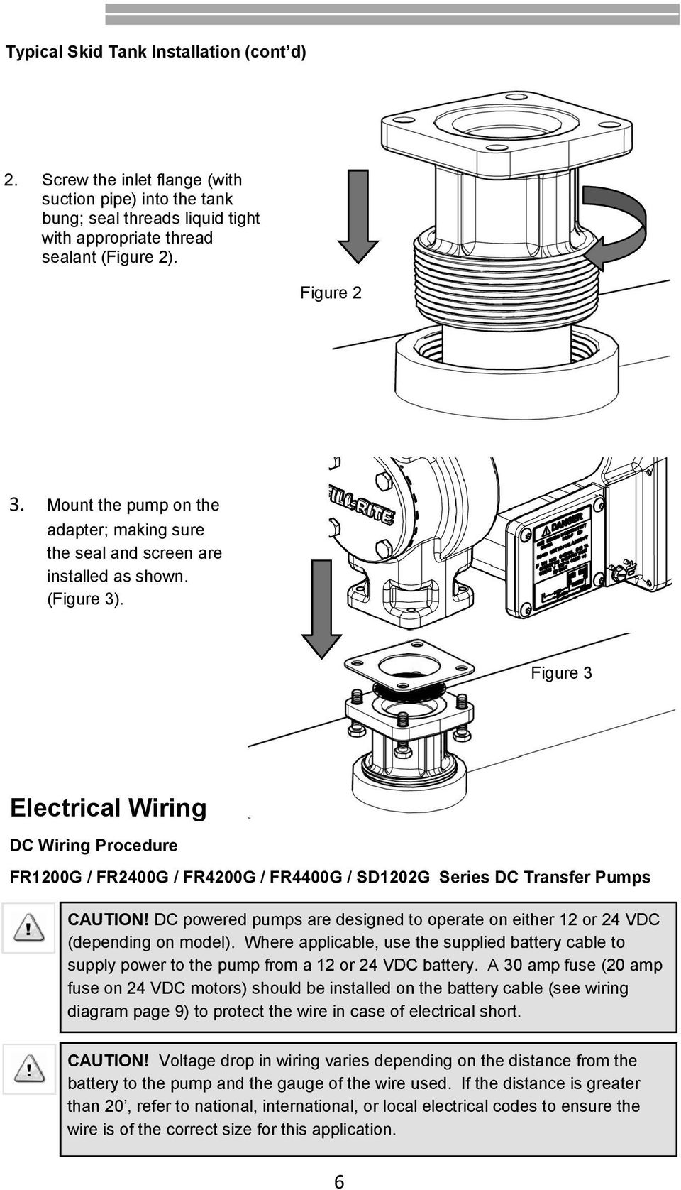 Fr600g Series Ac Transfer Pumps Pdf In The Wiring Diagrams Shown This Thread How Do I Tell If Wires Figure 3 Electrical Dc Procedure Fr1200g Fr2400g Fr4200g Fr4400g Sd1202g