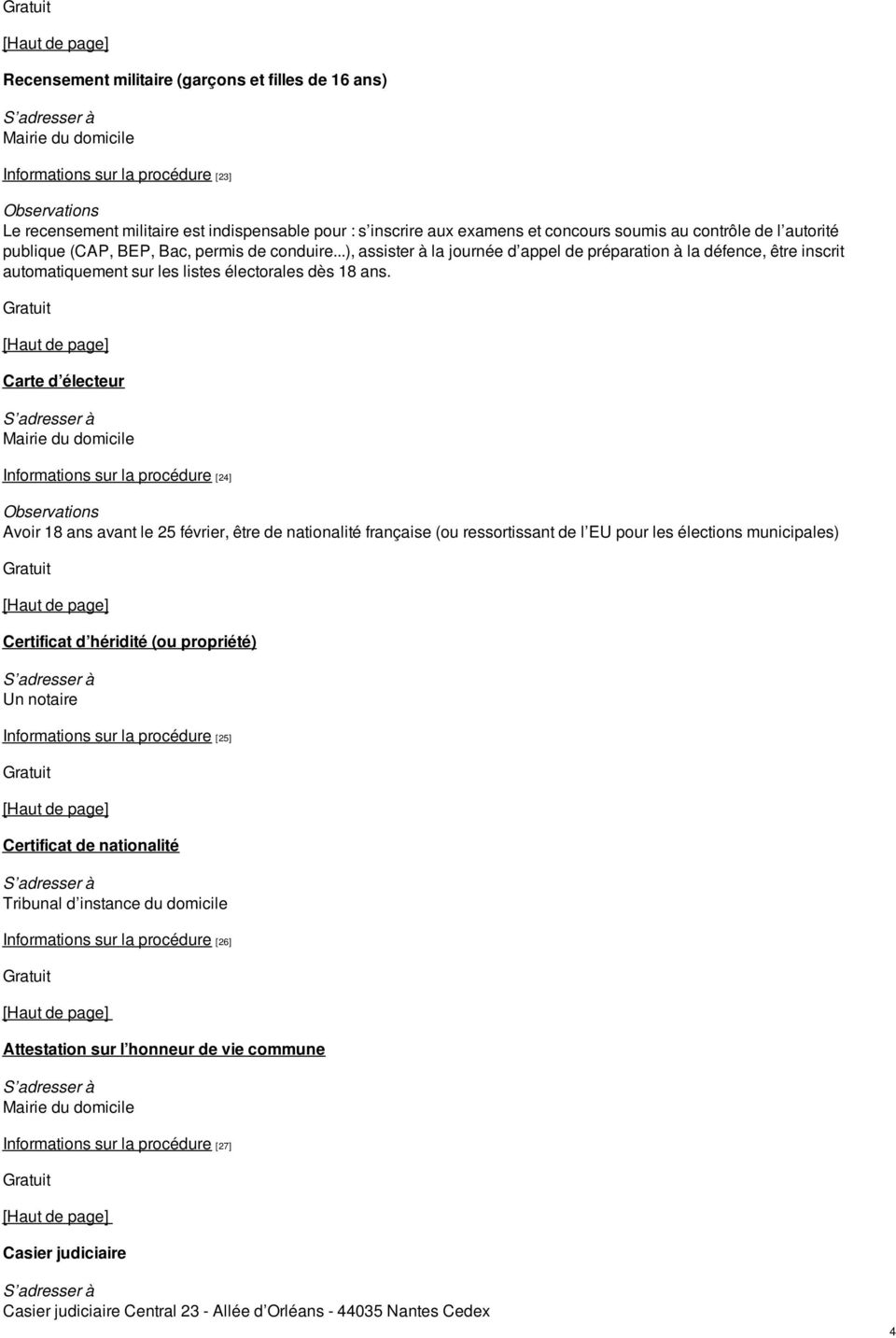 Demarches Administratives Pdf