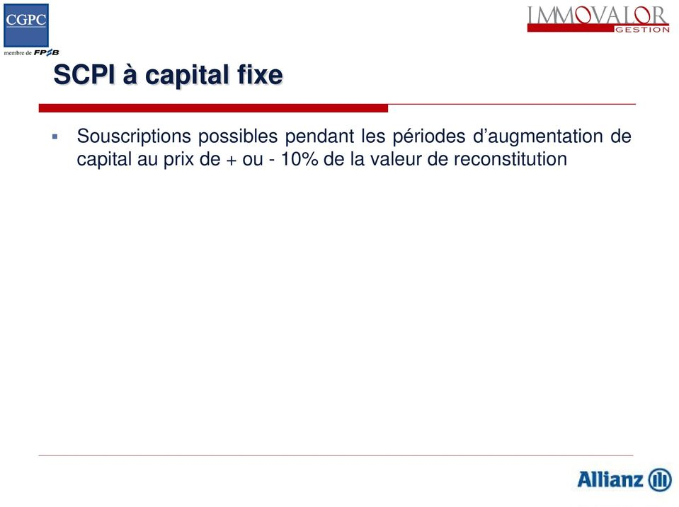 augmentation de capital au prix de