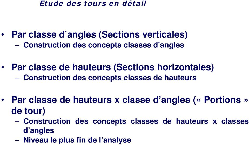 concepts classes de hauteurs Par classe de hauteurs x classe d angles («Portions» de tour)