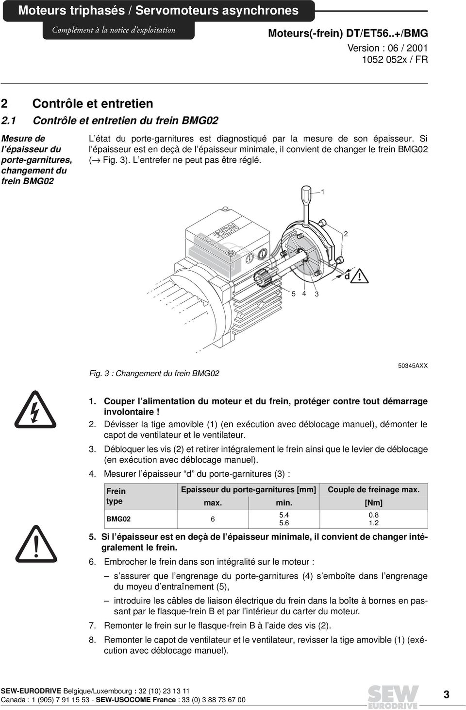 Moteurs Triphases Servomoteurs Asynchrones 1 Raccordement