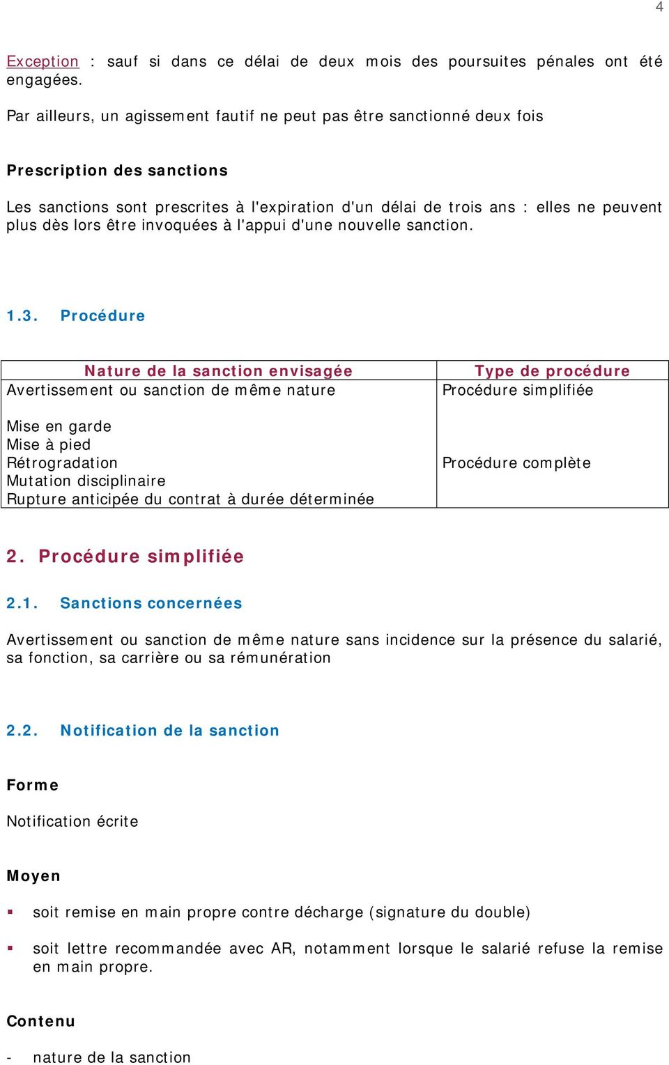Procedures Disciplinaires Pdf