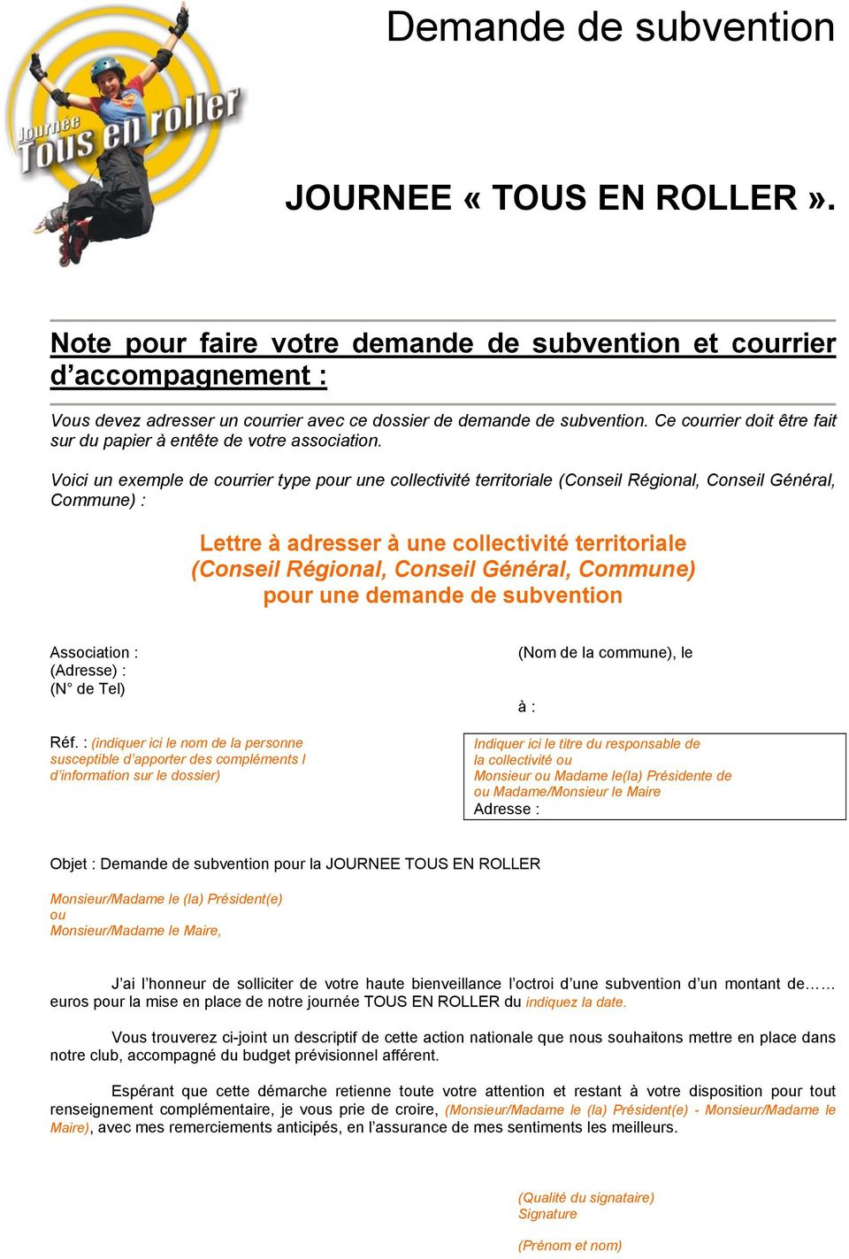 Demande De Subvention Pdf