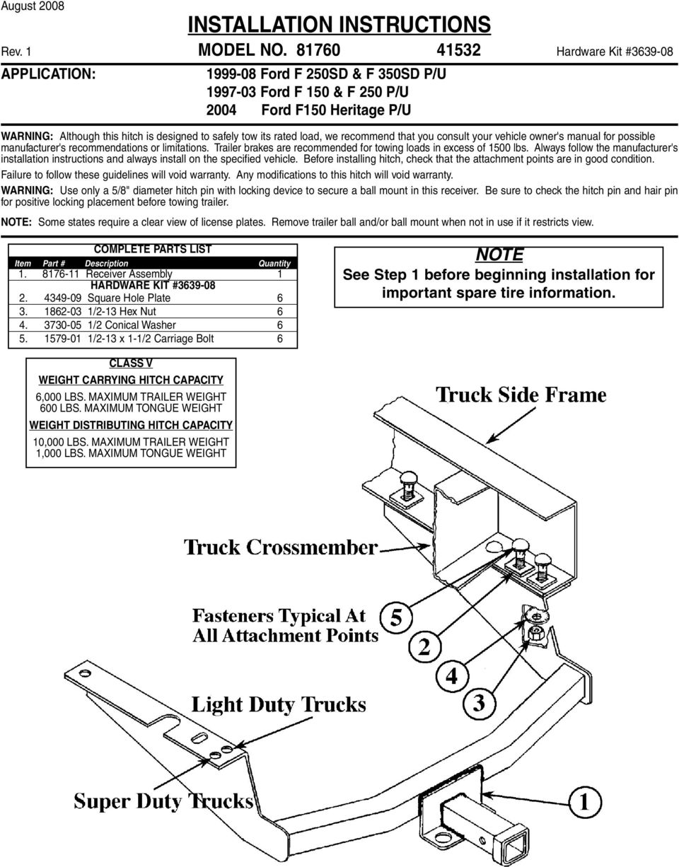 we recommend that you consult your vehicle owner's manual for possible manufacturer's recommendations or limitations. Trailer brakes are recommended for towing loads in excess of 1500 lbs.