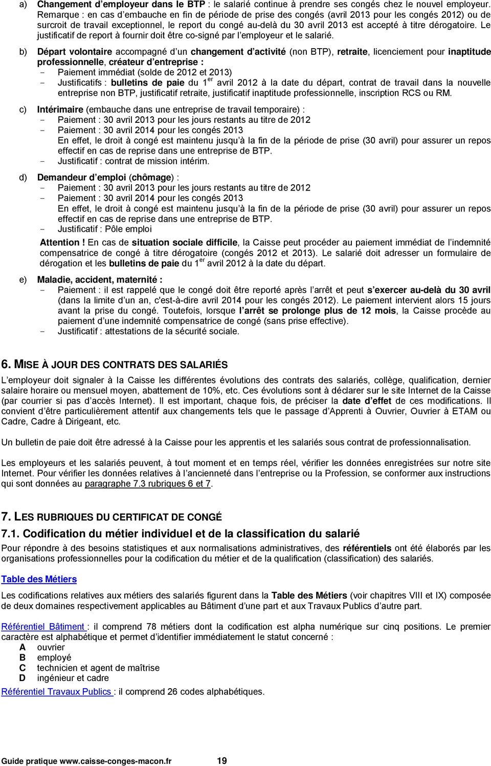 Guide Pratique De La Caisse Conges Intemperies Btp Pdf