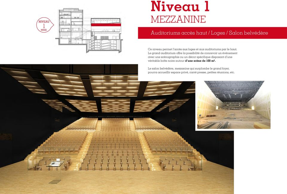 auditoriums par le haut.