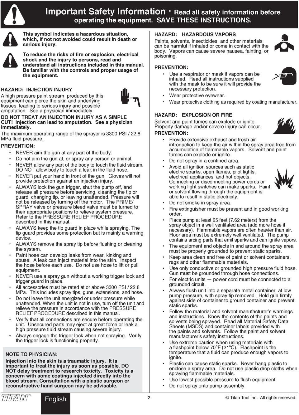 IMPACT 740/840  Airless Sprayer  Owner s Manual  Notice d
