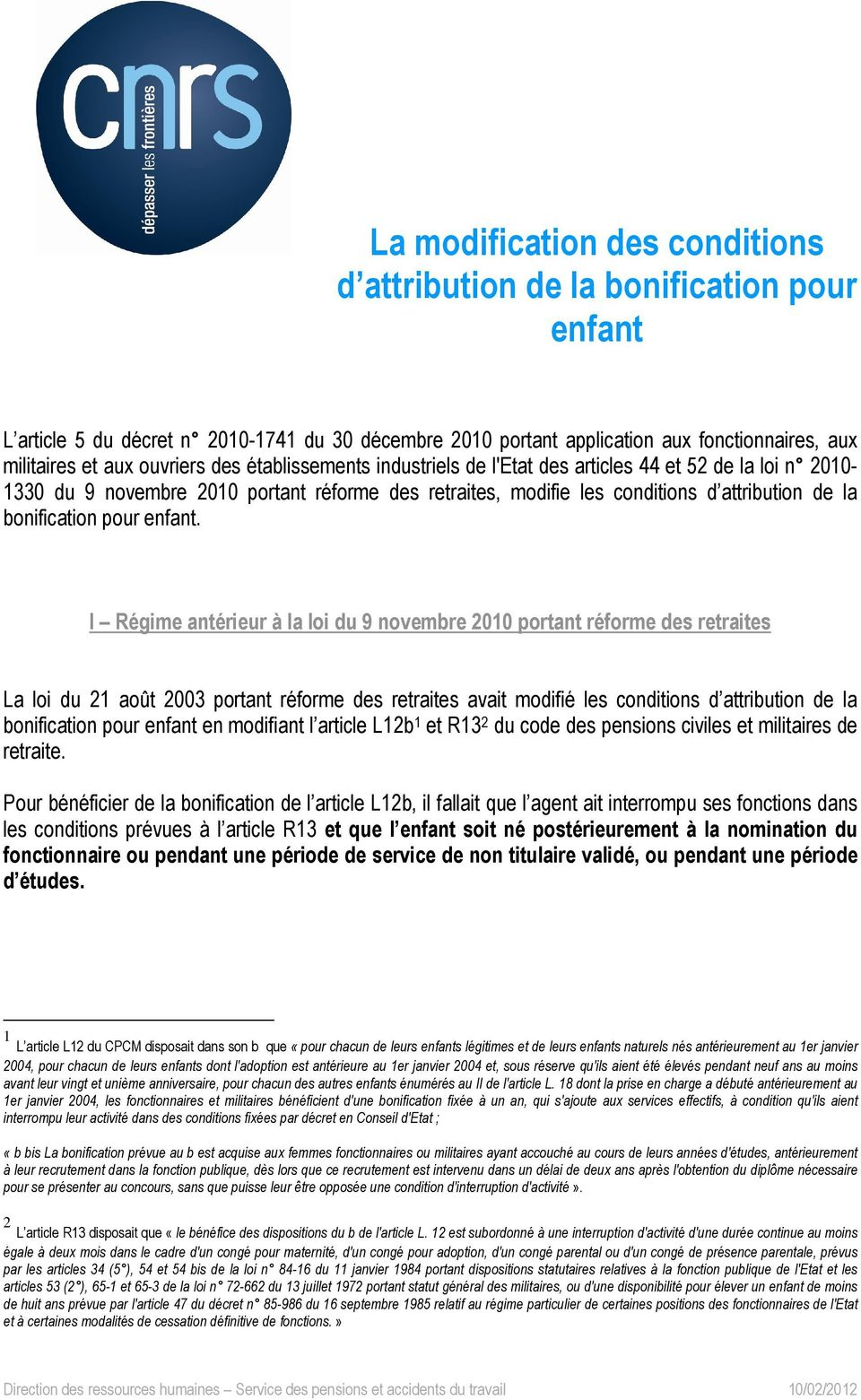 a7fb1e36f6e La modification des conditions d attribution de la bonification pour ...